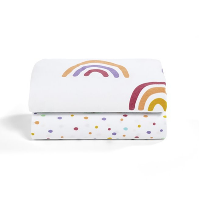 SnuzPod 2 Piece Fitted Sheets -  Rainbow 808181