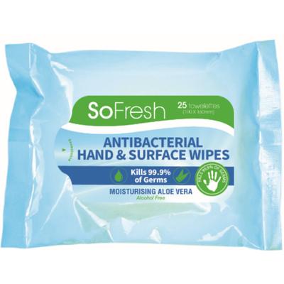 SoFresh Antibacterial Hand & Surface Wipe 807586