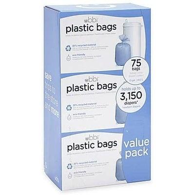 Ubbi Diaper Pail Plastic Bags 25 3pack 807689